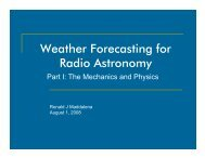 Weather Forecasting For Radio Astronomy: Part I The Mechanisms ...
