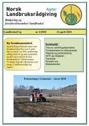 Medlemsblad april - Norsk Landbruksrådgiving Agder