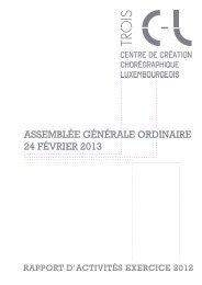 Rapport d'activité 2012 - Centre de création chorégraphique ...