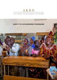 quality of life assessment programme - Aga Khan Development ...