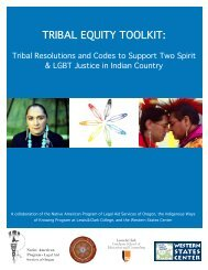 TRIBAL EQUITY TOOLKIT: