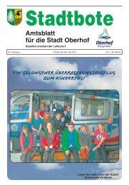 Amtsblatt für die Stadt Oberhof