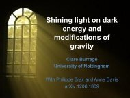 Shining light on dark energy and modifications of gravity