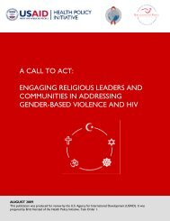 A Call to Act - Health Policy Initiative