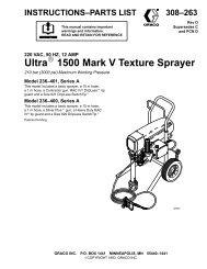 Ultra 1500 Mark V Texture Sprayer - Graco Inc.