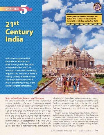 21 Century India - Hinduism Today Magazine