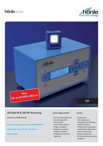 Produktinformation LED Spot W - Dr. Hönle AG