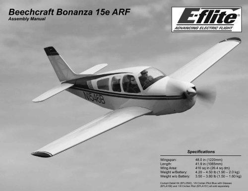 Beechcraft Bonanza 15e ARF - Great Hobbies