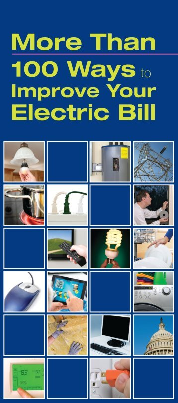 Than 100 Ways to Improve Your Electric Bill brochure - FirstEnergy