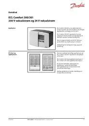 ECL Comfort 300/301 230 V vekselstrøm og 24 V vekselstrøm