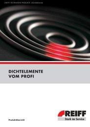 DICHTELEMENTE VOM PROFI - REIFF Gruppe