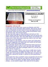 PREDIGT -- 5. Fastensonntag A --- 6.4.2014