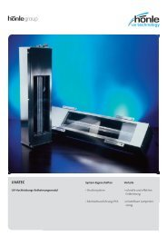 Produktinformation UVATEC - Dr. Hönle AG