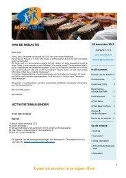 Digitale Nieuwsbrief jaargang 2 nr. 4 (december 2012) - Meerklank