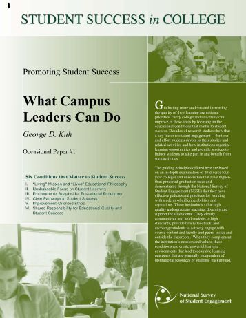 What Campus Leaders Can Do - NSSE