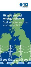 UK and Ireland energy networks Sustainable, secure and essential