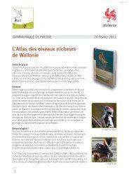 L'Atlas des oiseaux nicheurs de Wallonie est paru - Aves