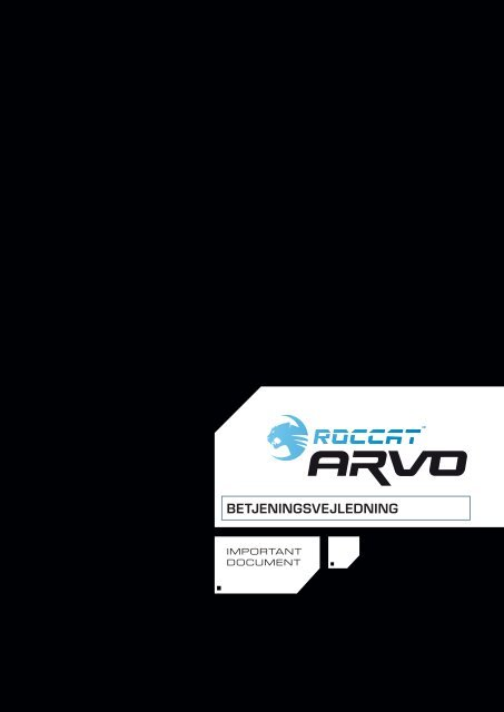 Betjeningsvejledning - Roccat