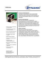 110XiIII plus - Dynamic Systems GmbH