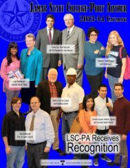 Introduction, Calendar, Table of Contents - Lamar State College ...
