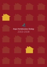 Angus Homelessness Strategy - Supporting ... - Angus Council