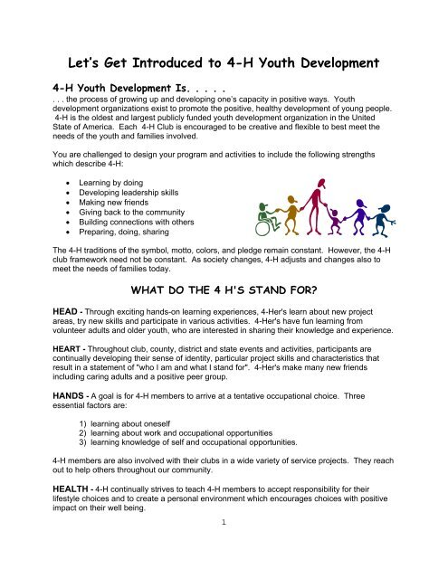 4-H Family Handbook ( pdf) - Polk County - University of