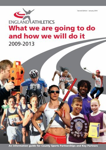 How England Athletics Will Work - Sport and Recreation Alliance