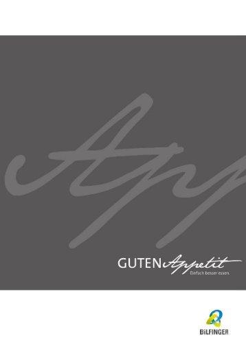 Bankettmappe Bilfinger HSG Culinaress - Tagungszentrum