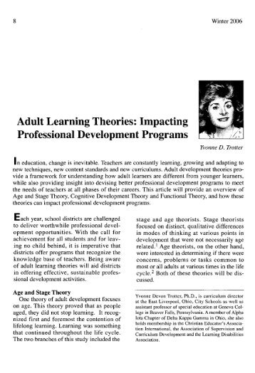 a study on developmental theories of learning Tion of child development theories to educational processes depends  issue is  removed altogether from current research efforts into learning not one study.