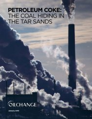 Petroleum Coke: the coal hiding in the tar SandS - Oil Change ...