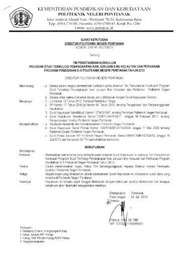 TPI - Akademik dan Kemahasiswaan - Politeknik Negeri Pontianak
