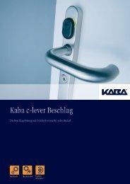 Kaba c-lever Beschlag - Doppler, Basel
