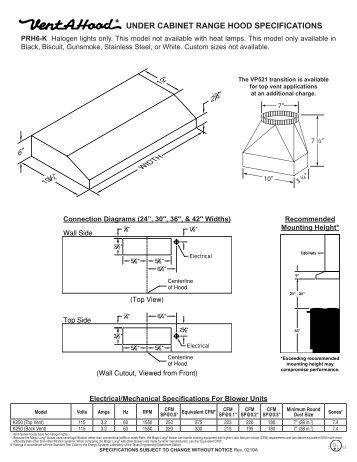 Zth Wall Mount Range Hood Installation Instructions US Appliance - Under cabinet range hood installation