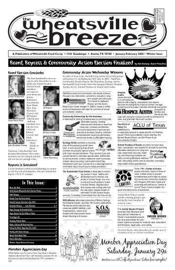 Winter Issue - January / February 2005 - Wheatsville Food Co-op