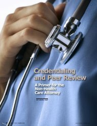 Credentialing and Peer Review - Lawyers