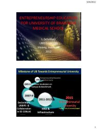 entrepreneurship education for university of brawijaya medical school