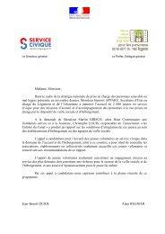 candidatures - Service Civique