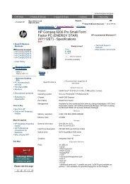 HP Compaq 8200 Elite Small Form Factor PC     - Added Dimension