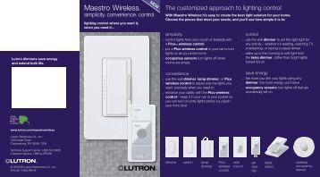 Maestro Wireless Consumer Brochure - LED Lighting
