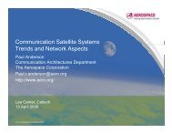 Communication Satellite Systems Trends and Network Aspects