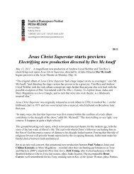 18/11 jesus christ superstar starts previews - Stratford Festival