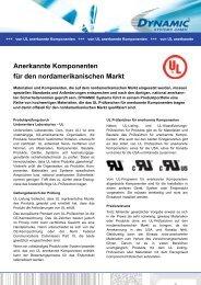 Anerkannte Komponenten für den ... - Dynamic Systems GmbH