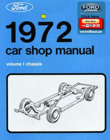 DEMO - 1972 Ford Car Shop Manual (Vol I-V) - FordManuals.com