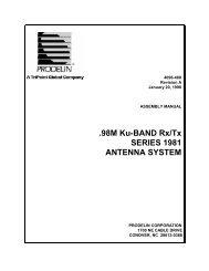 98M Ku-BAND Rx/Tx SERIES 1981 ANTENNA SYSTEM