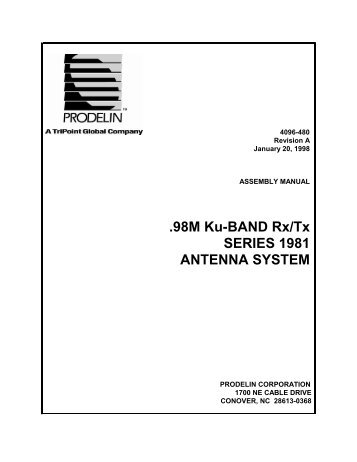 98M Ku-BAND Rx/Tx SERIES 1981 ANTENNA SYSTEM