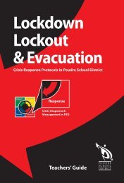 Lockdown Lockout & Evacuation - PSD - Poudre School District