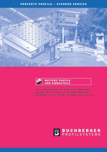 Buprofile.de - Buchberger Profilsysteme - Dehnfugenprofile, Fugenprofile, Dehnfugen, Bauwerksfugen