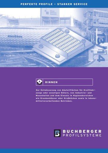 Buprofile.de - Buchberger Profilsysteme - Ablaufrinnen Entwässerungsrinnen Ablaufkörper