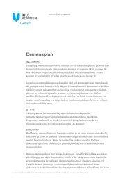 Verksamhetsplan för personer med demenssjukdomar inom Kils ...
