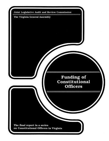 Funding of Constitutional Officers - Virginia Joint Legislative Audit ...